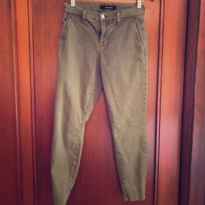 J Brand like new Josie Trouser - army green